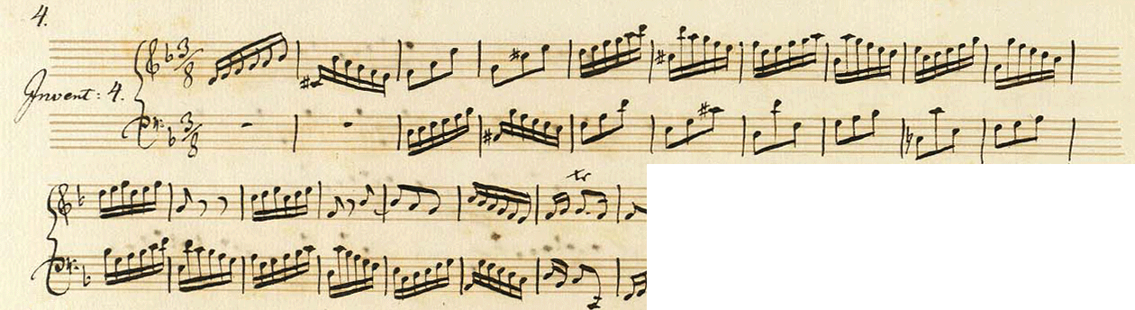 Abbildung Bach, Invention in d-Moll (Anfang)
